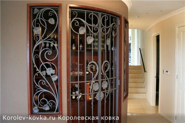 кованые решетки для межкомнатных дверей