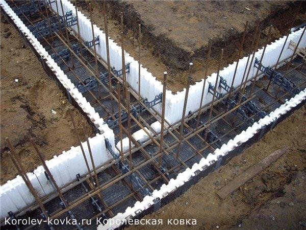кованые заборы на бетонном фундаменте