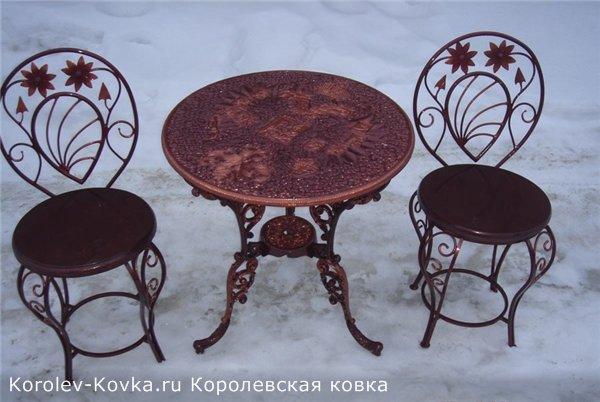 кованая мебель бу