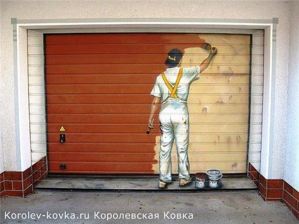 оригинальные гаражные ворота