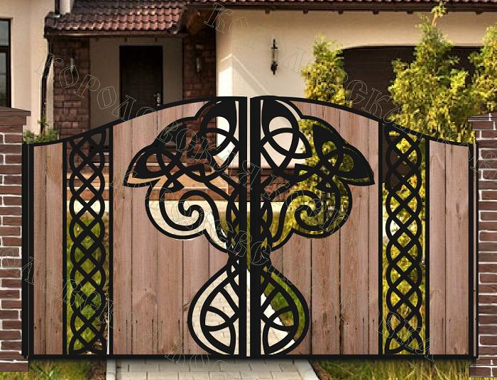 Узоры из дерева на ворота