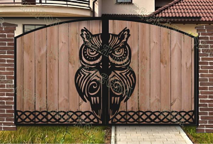 Сова ворота ворота металлические вм 1