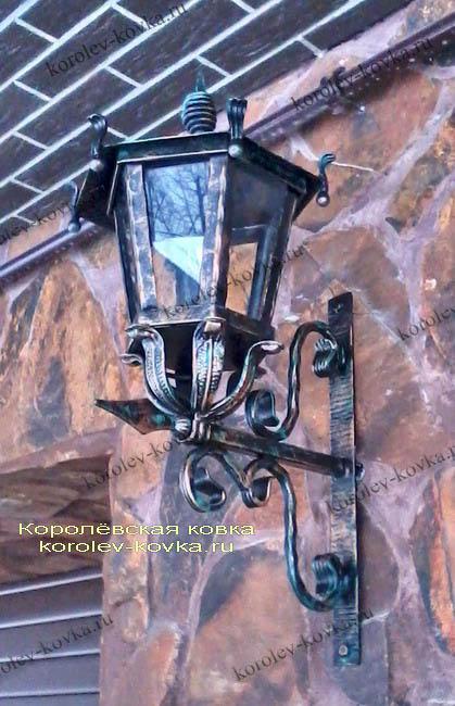 Кованый фонарь ФС-25 с гладким стеклом